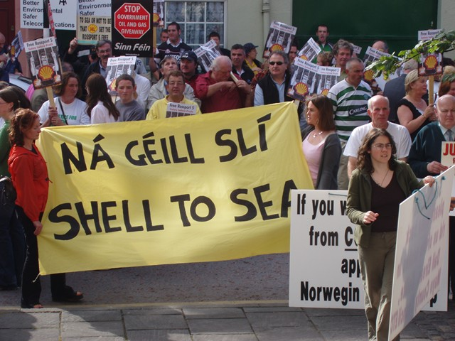 Sligo public rally in support of the Rossport Five (2005)